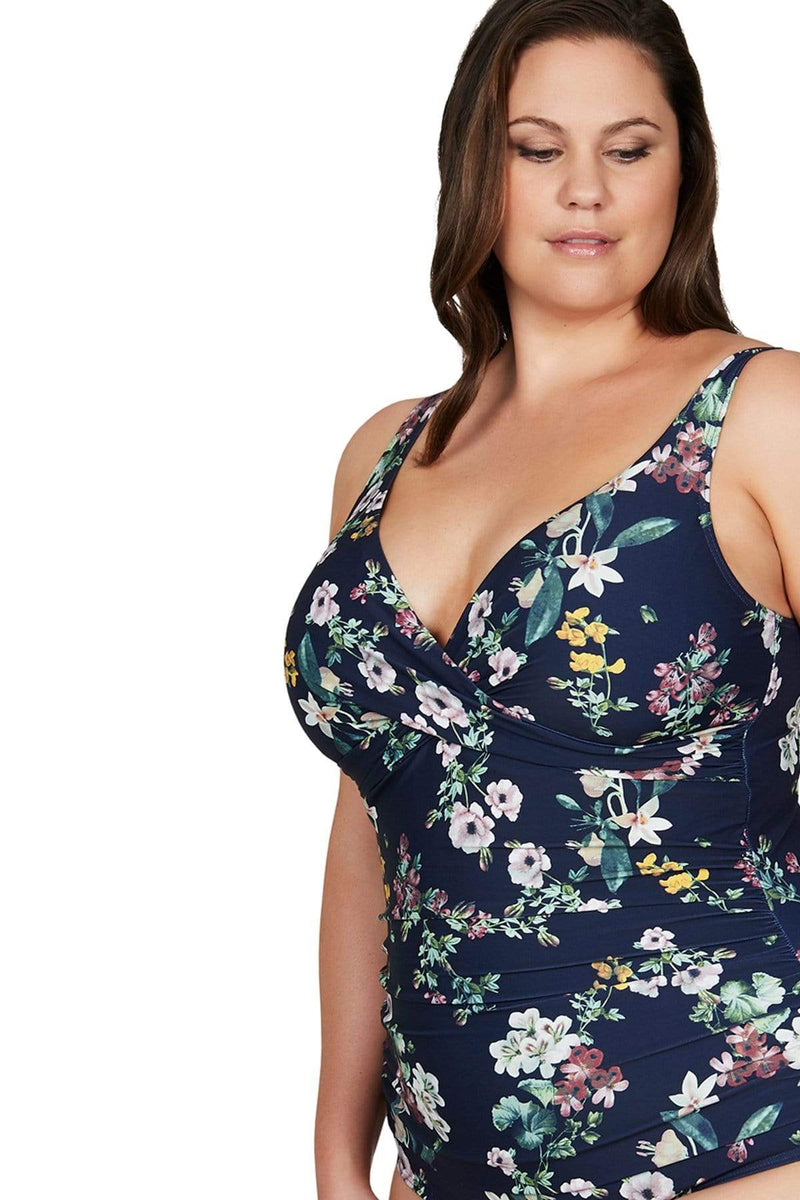 Artesands One Piece Navy Neo Kimono Delacroix One Piece Plus Size Curvy