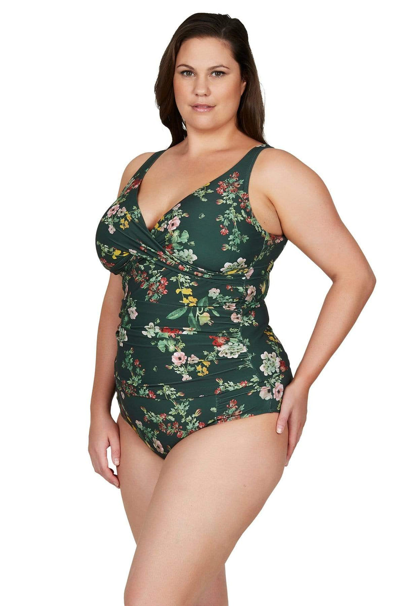 Artesands Top Green Neo Kimono Delacroix Tankini Top Plus Size Curvy