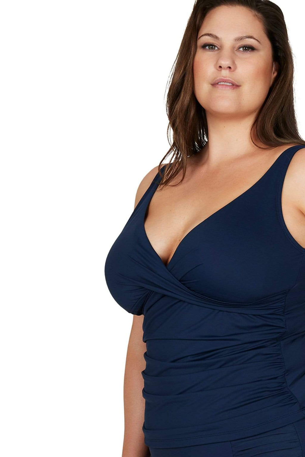 Artesands Top Navy Hues Delacroix Tankini Top Plus Size Curvy