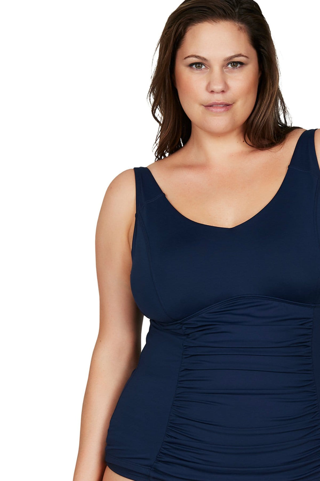 Artesands Top Navy Hues Raphael E/F Underwire Tankini Top Plus Size Curvy