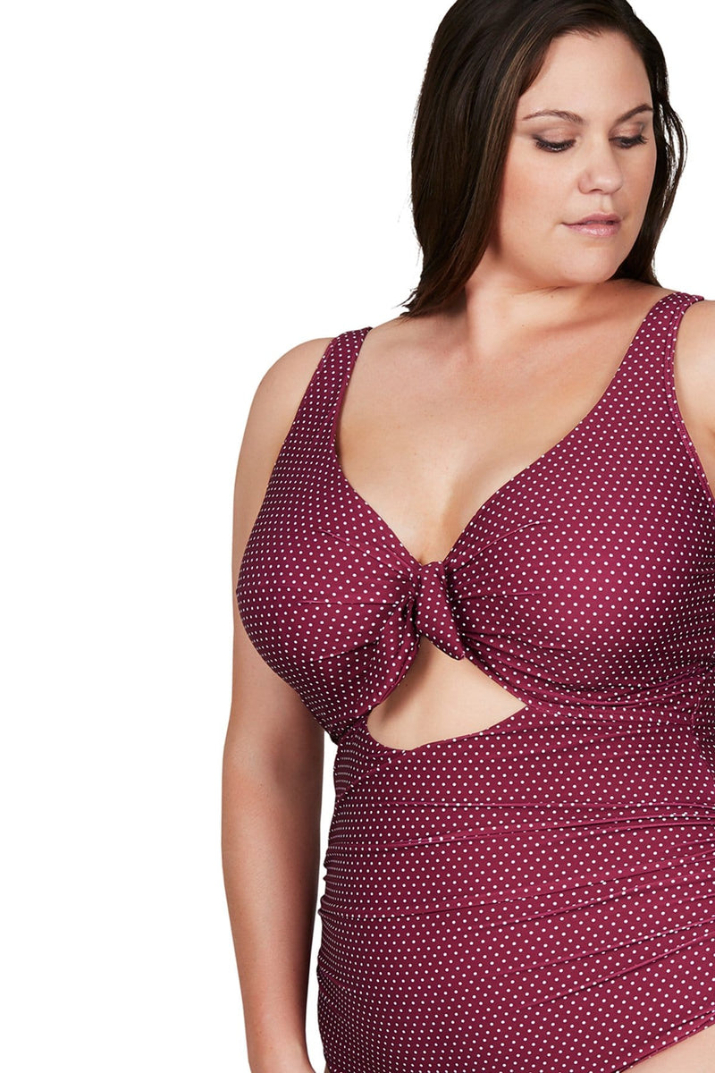 Artesands One Piece Syrah Polka Rococo Cezanne One Piece Plus Size Curvy