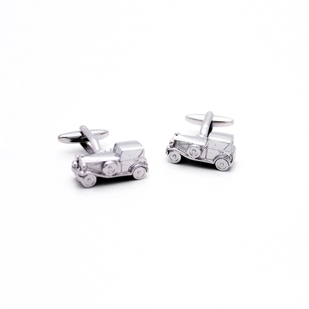 Retro Saloon Car Cufflinks - Red Stag and Hind