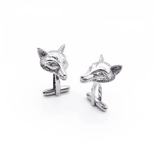 Silver Wolf Cufflinks - Red Stag and Hind