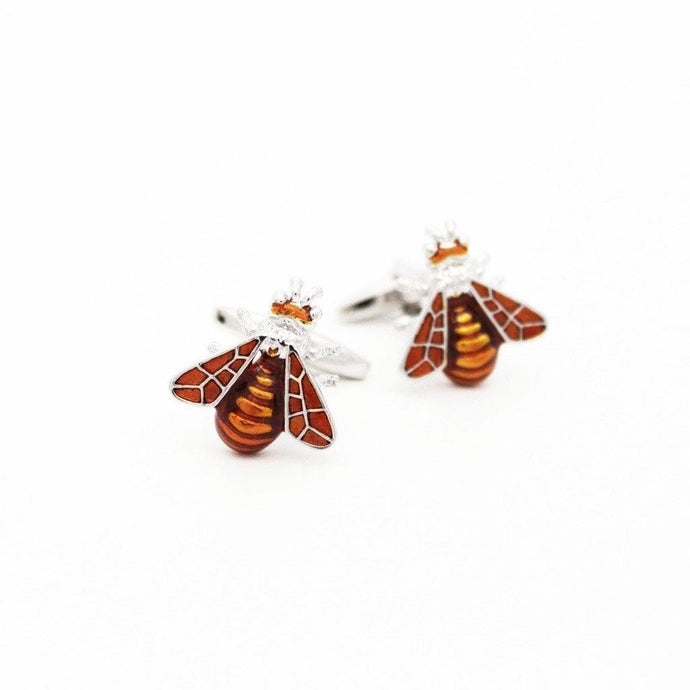 Metallic Orange Bee Cufflinks - Red Stag and Hind