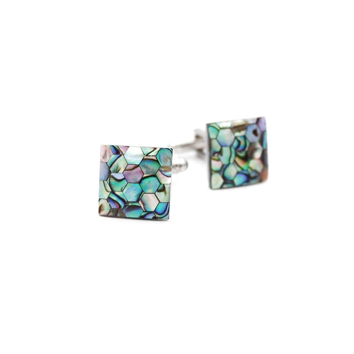 Honeycomb Mother of Pearl Cufflinks - Red Stag and Hind