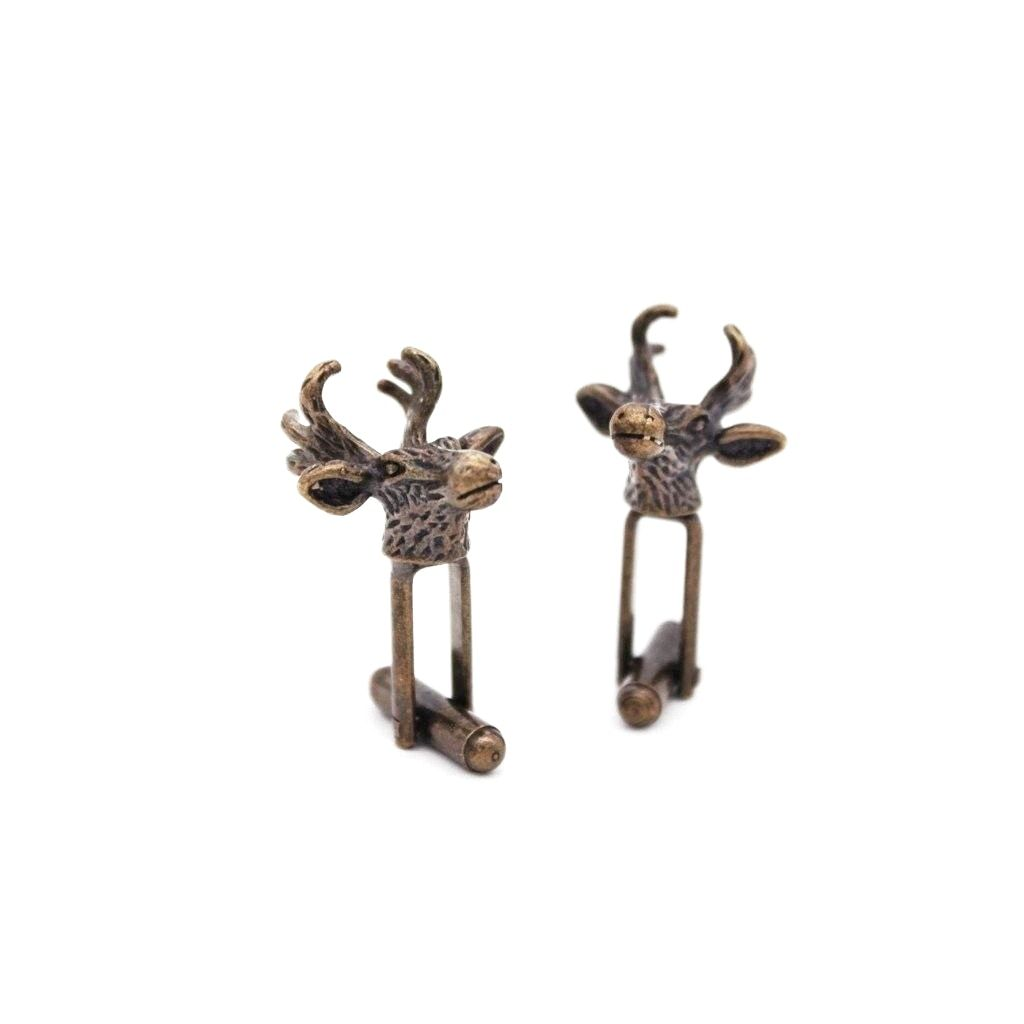 Bronze Antique Stag Cufflinks - Red Stag and Hind