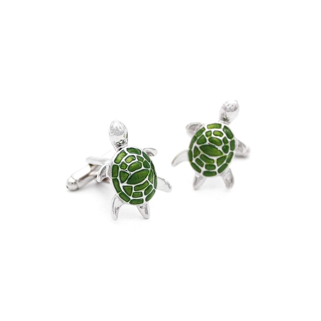 Moss Green Turtle Cufflinks - Red Stag and Hind