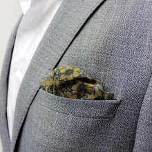 Green and Yellow Floral Cotton Pocket Square - Red Stag and Hind