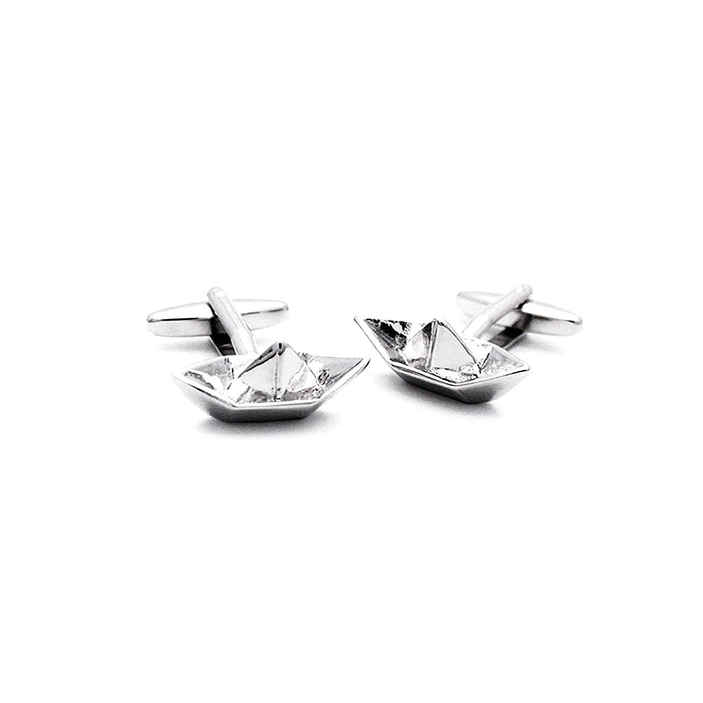 Tin Soldier Paper Boat Cufflinks - Red Stag and Hind
