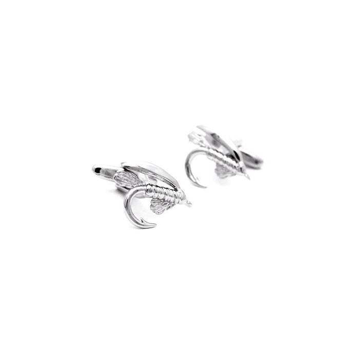 Fly Fishing Hook Cufflinks - Red Stag and Hind