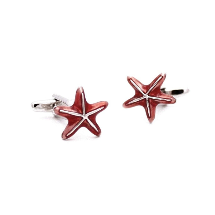 Aquatic Starfish Cufflinks - Red Stag and Hind