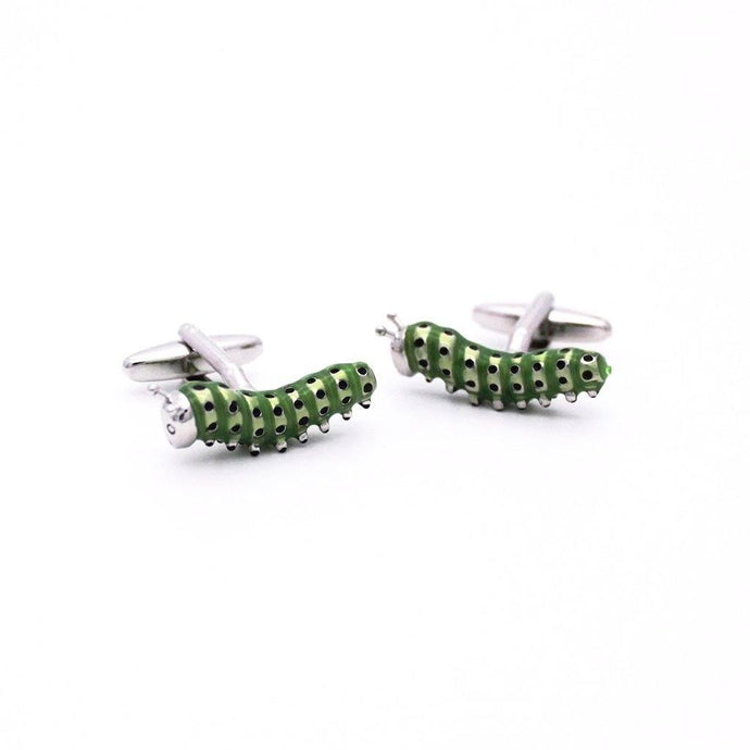 Enamel Caterpillar Cufflinks - Red Stag and Hind