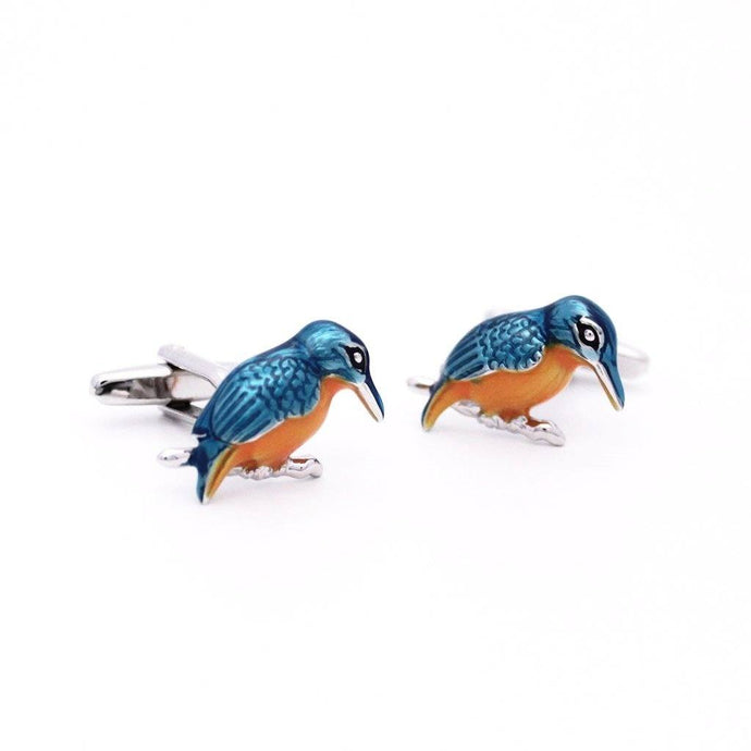Enamel Kingfisher Cufflinks - Red Stag and Hind
