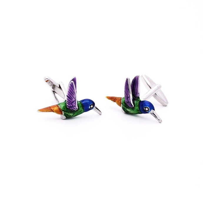 Enamel Hummingbird Cufflinks - Red Stag and Hind