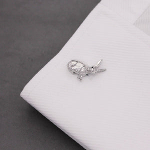 Rhodium Wild Hare Cufflinks - Red Stag and Hind