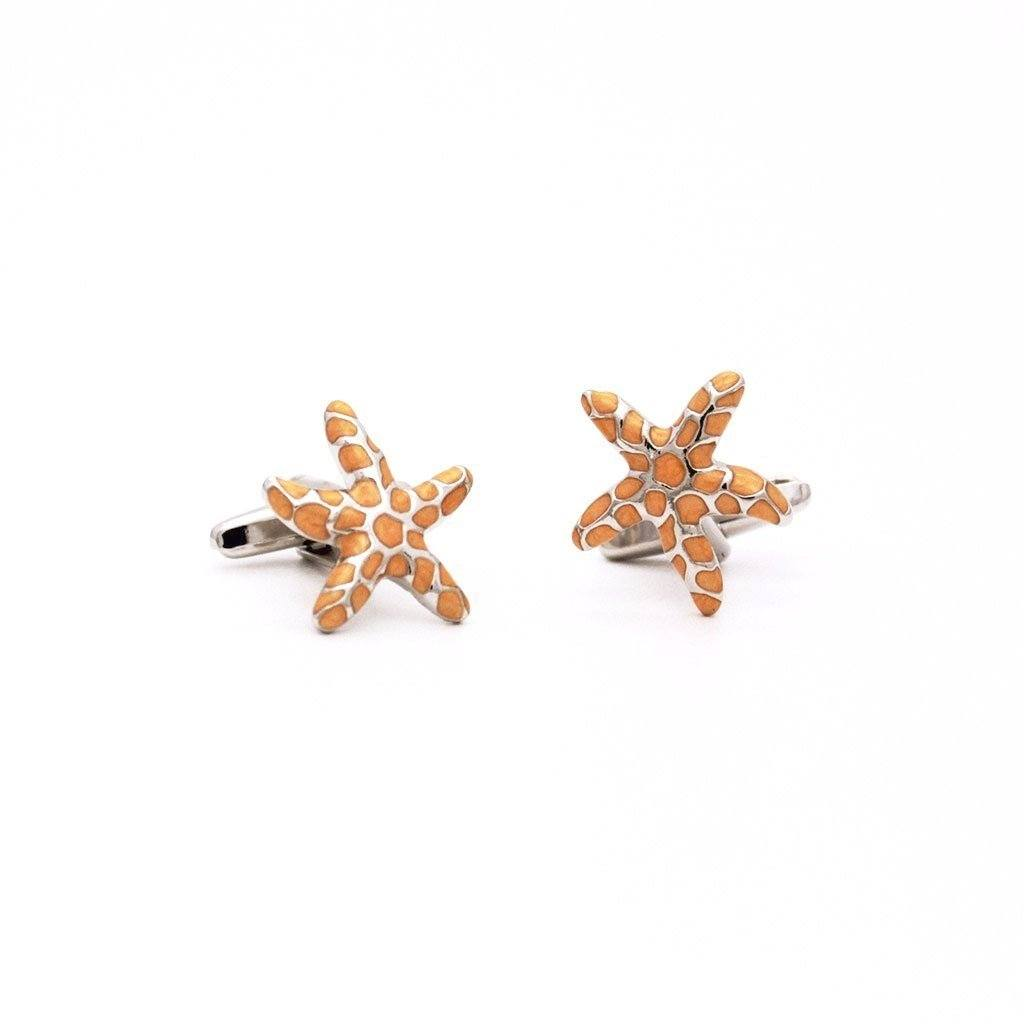Aquatic Spotted Starfish Cufflinks - Red Stag and Hind