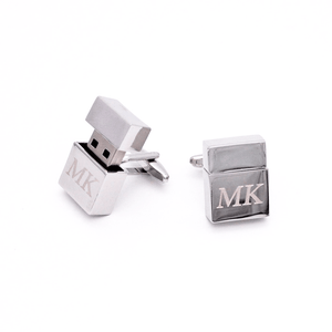 Personalised USB Memory Stick Cufflinks - Red Stag and Hind