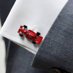 Red Formula 1 Racing Car Cufflinks - Red Stag and Hind