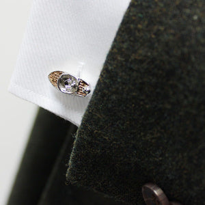 Rose Gold Speedboat Cufflinks - Red Stag and Hind