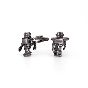 Antique Retro SciFi Toy Robot Cufflinks