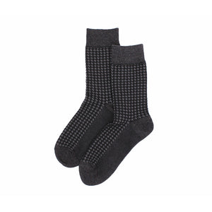 The Gentlemen Charcoal Houndstooth Socks