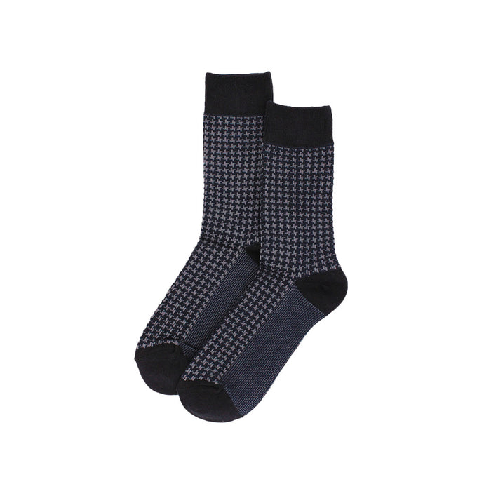 The Gentlemen Navy Houndstooth Socks