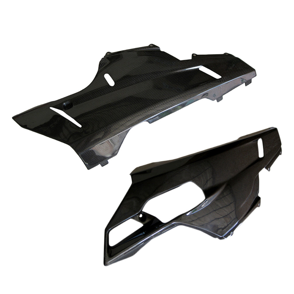 Ducati 848 1098 1198 Carbon Fiber Side Lower Fairings The Motor Motive