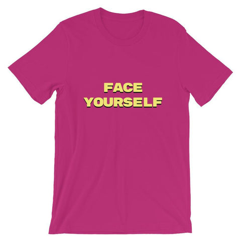 Face Yourself Berry T-Shirt - V