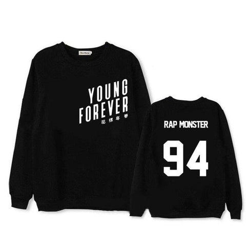 Young Forever Member Black Sweatshirt - RM