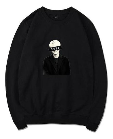Black Suga Oversized Sweatshirt - Suga
