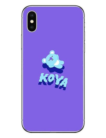 BT21 Koya 1 Phone Cases Cover (iPhone 5 5s SE 6 6S Plus 7 7Plus 8 8 Plus X 10) - RM