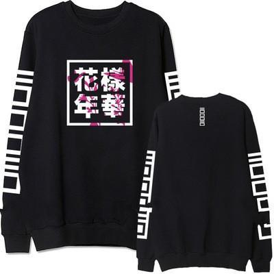 HYYH The Most Beautiful Moment in Life Black Sweatshirt