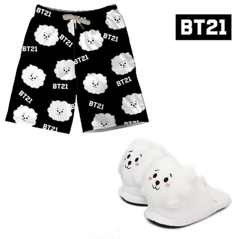 BT21 Shorts and Slippers Set RJ - Jin
