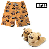 BT21 Shorts and Slippers Set SHOOKY - Suga
