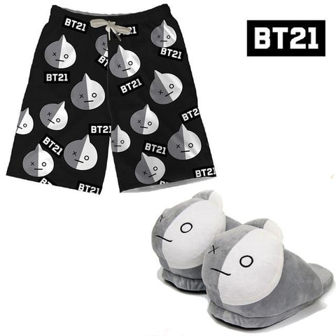 BT21 Shorts and Slippers Set VAN