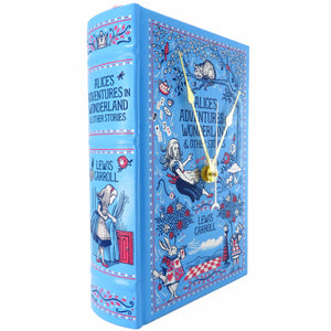 Alice's Adventures In Wonderland Book Clock - Baby Blue