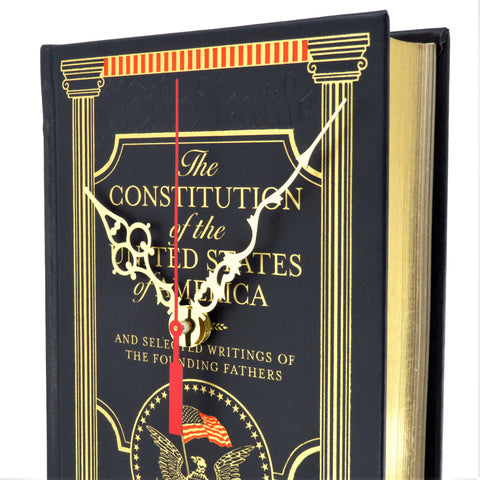 The Constitution of the United States of America Book Clock