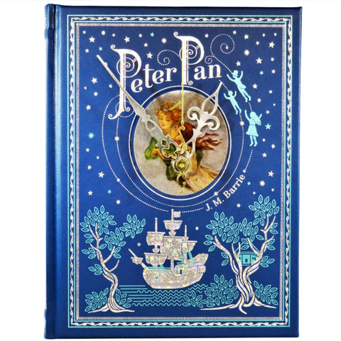 Peter Pan Leather Bound Book Clock