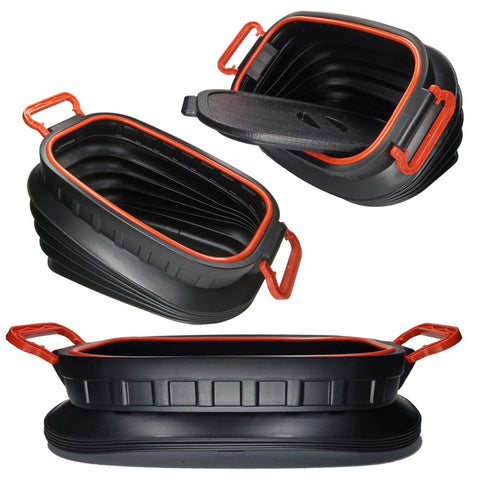 18L Car Folding Storage Bucket