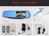 Image of Car DVR Dual Lens Dash  Camera Full HD 1080P Video Recorder Rearview Mirror With Rear view
