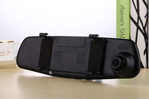 Car DVR Dual Lens Dash  Camera Full HD 1080P Video Recorder Rearview Mirror With Rear view