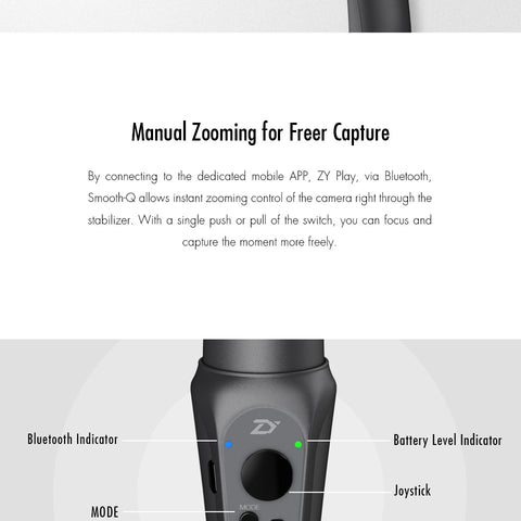 Smooth Q 3-Axis Handheld Phone Stabilizer