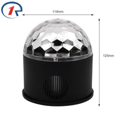LED Crystal Magic Ball Party Light rotation Bluetooth Speaker