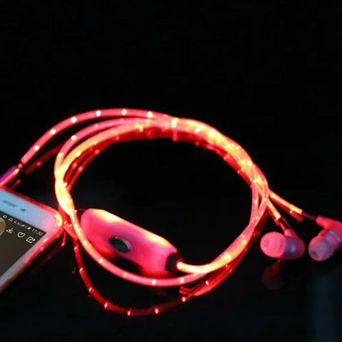 Glowing Music LED Earphone