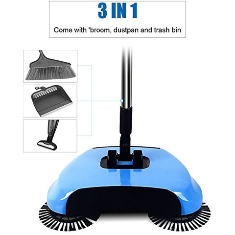 3 in 1 Handheld Automatic Push Sweeper Broom