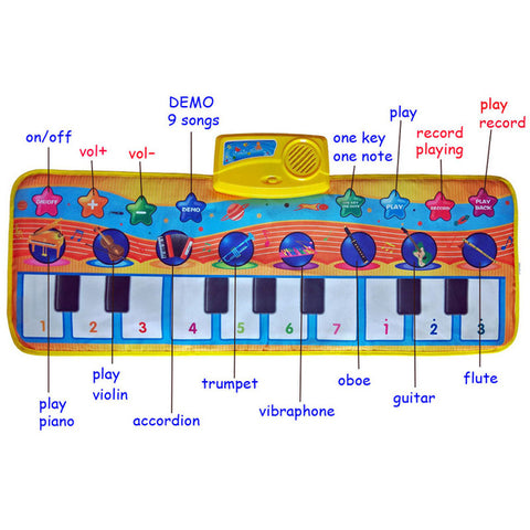 Baby Piano / Animal Touch Play Music Mats