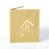 Image of 4 Cards - 3D Laser Cut Cute Dog Cage House Paper Invitation Greeting Cards