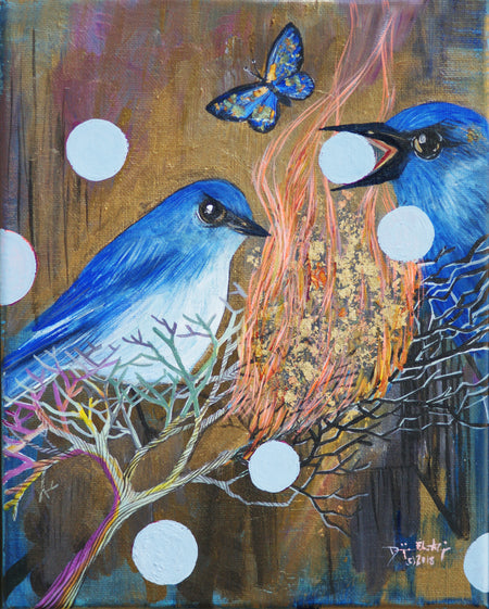 Blue Jays, Juniper Berries and the Burning Bush