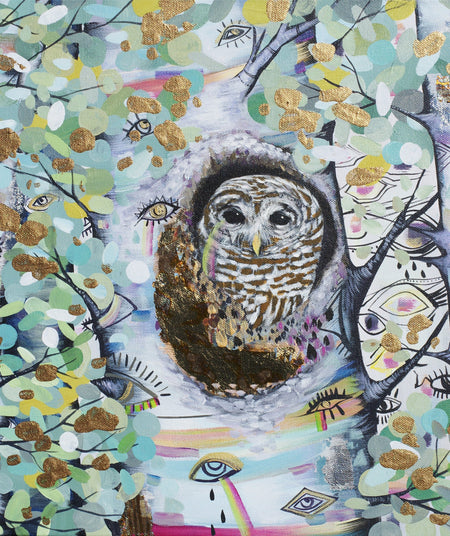 Wise One (Owl in the Woods) - Fine Art Original