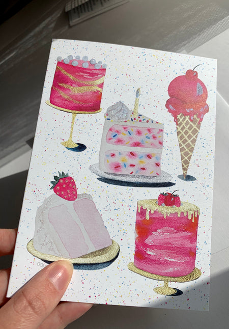 Funfetti Birthday Card Pack of 8